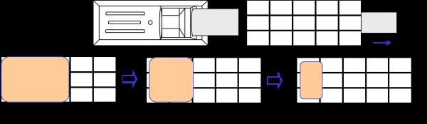 HPボンド(直流用)剥離パターン